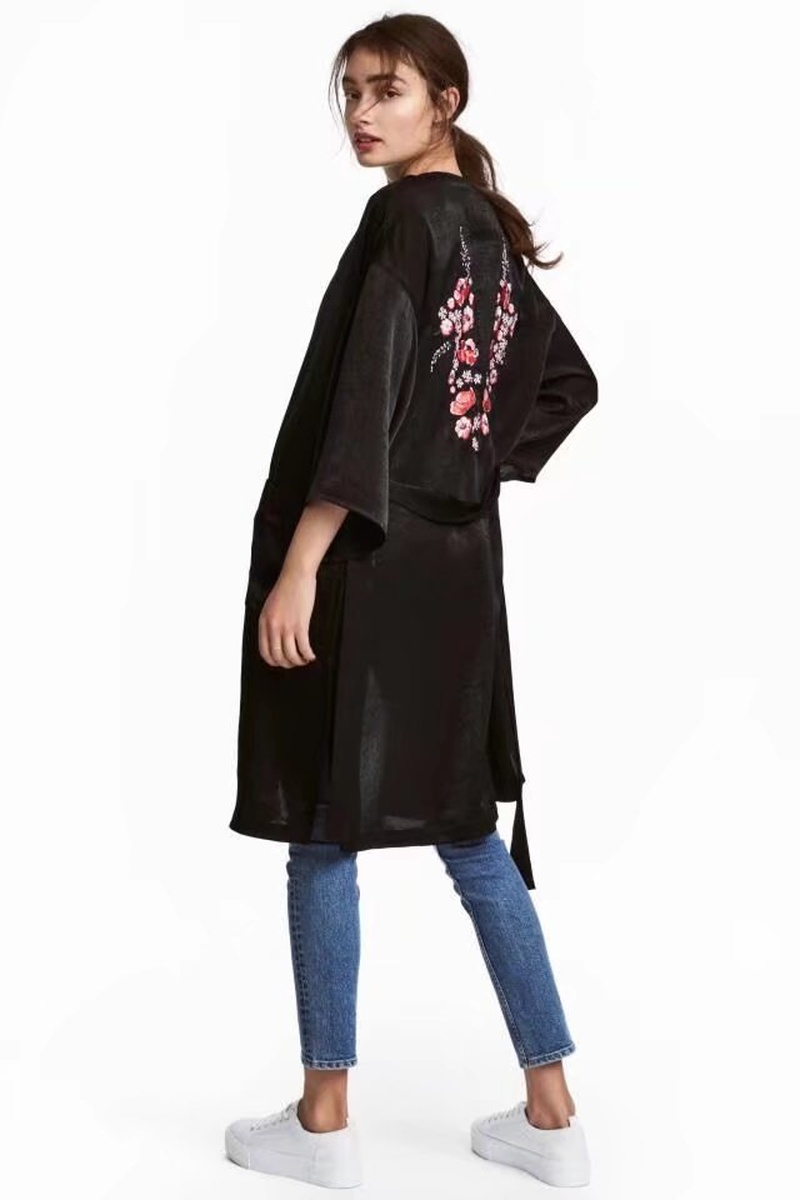 Sexy & Party Polyester  coat  (Black-S)  NHAM1473-Black-S