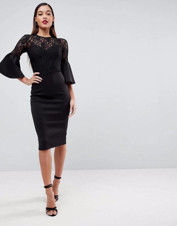 Sexy & Party Lace  dress  (Black-S)  NHAM1476-Black-S