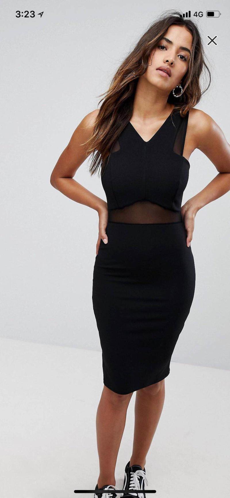 Sexy & Party Polyester  dress  (Black-S)  NHAM1477-Black-S