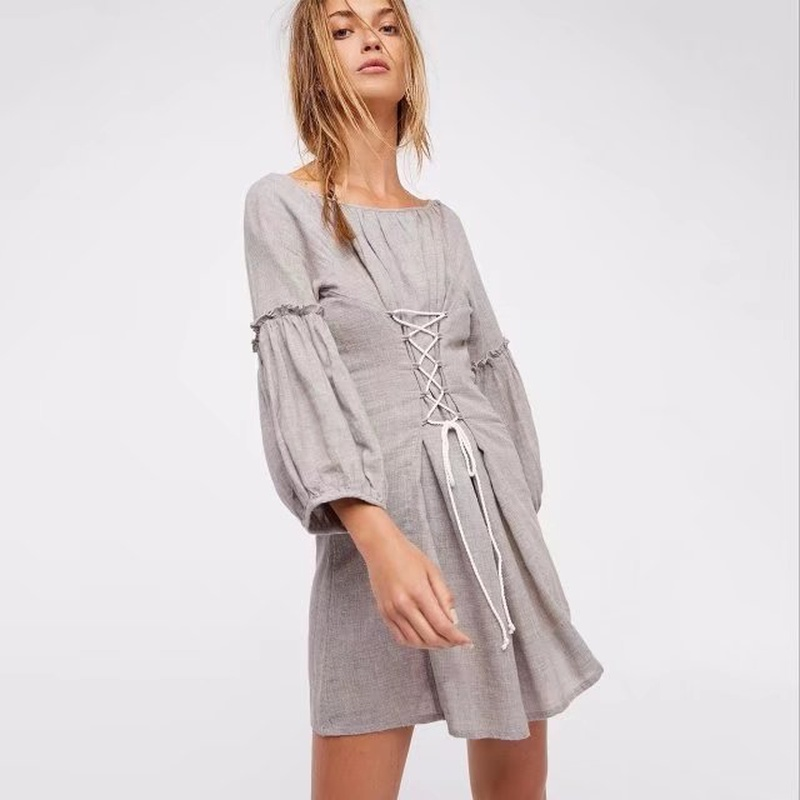 Sexy & Party Cotton  dress  (Picture color -S)  NHAM1479-Picture color -S