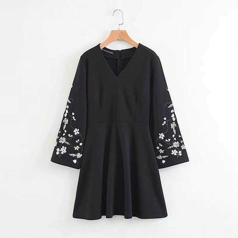 Sexy & Party Cotton  dress  (Black-S)  NHAM1506-Black-S