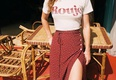 Sexy & Party Chiffon  skirt  (Red-XS)  NHAM1463-Red-XS