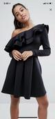Sexy & Party Polyester  dress  (Black-S)  NHAM1475-Black-S