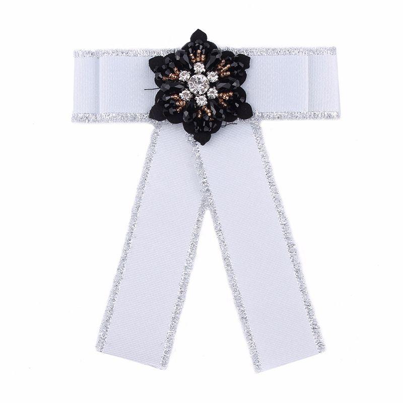 Alloy Fashion Bows brooch  white NHJQ9915white