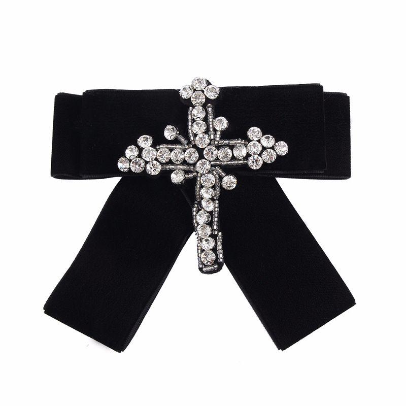 Alloy Fashion Bows brooch  black NHJQ9923black