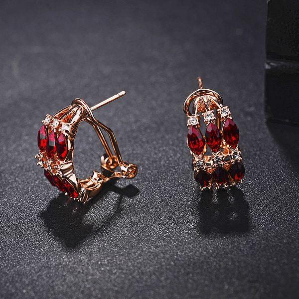 Alloy Fashion Geometric earring  (red) NHLJ3658-red