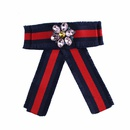 Alloy Fashion Bows brooch  Red and blue stripes NHJQ9947Red and blue stripes