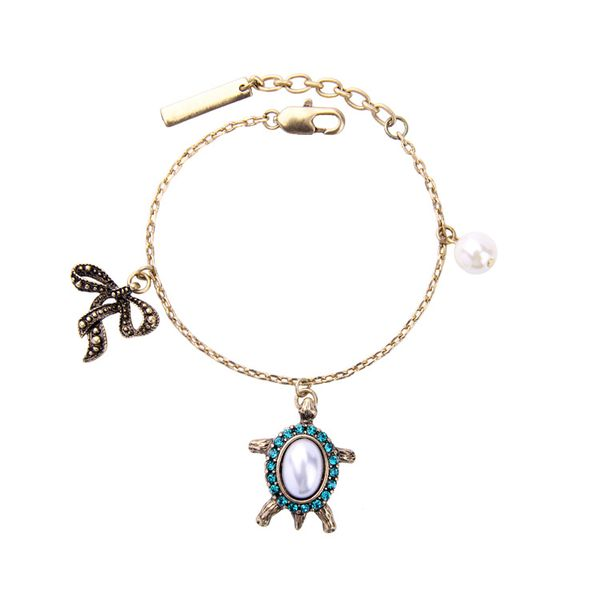 Fashion Alloy Rhinestone Bracelets Animal (Alloy)  NHQD4368-Alloy