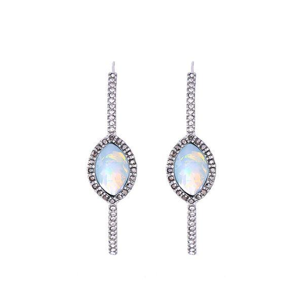 Fashion Alloy Rhinestone Earrings Geometric (Alloy)  NHQD4376-Alloy