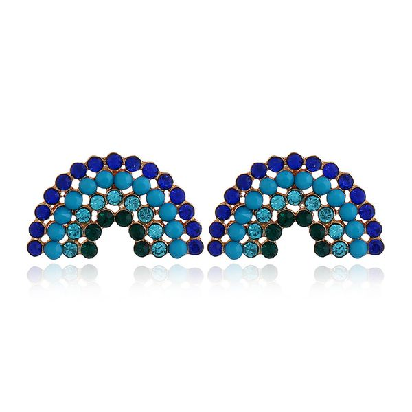 Fashion Alloy Rhinestone earring Geometric (sapphire)  NHNZ0317-sapphire