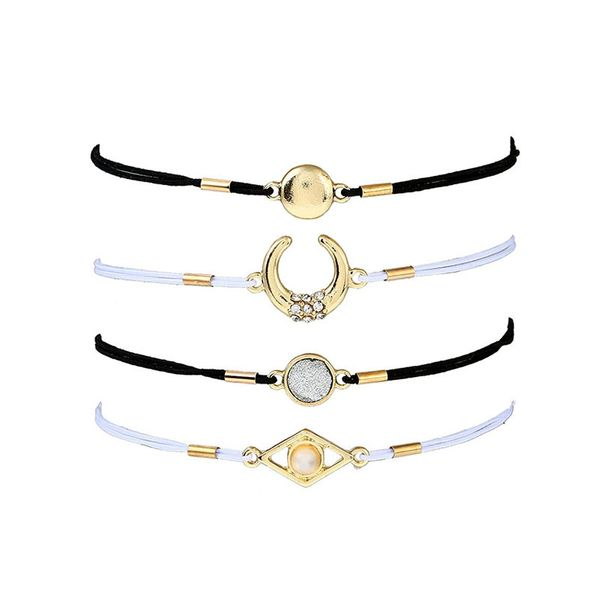 Simple Alloy Rhinestone Bracelets Geometric (Alloy)  NHNZ0326-Alloy
