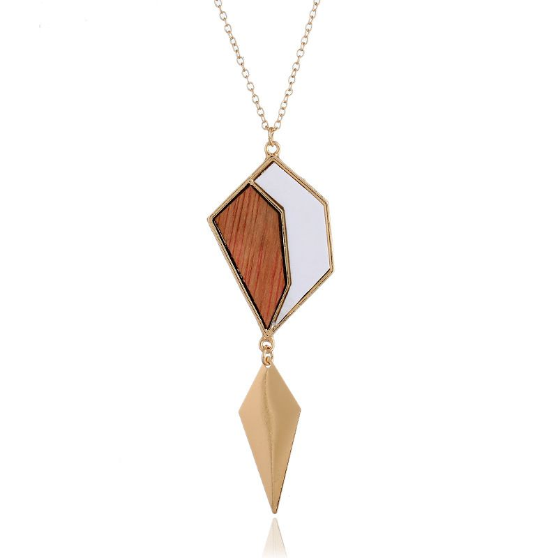 Vintage Alloy plating necklace Geometric (Mixed colors)  NHNZ0334-Mixed colors