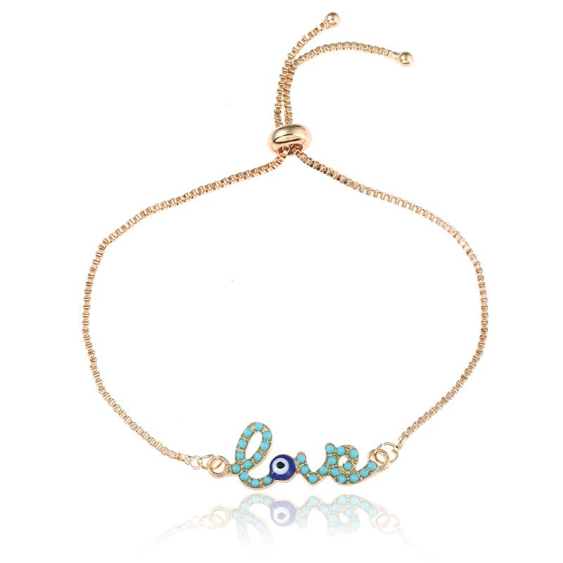 Simple Alloy plating Bracelets Geometric (Mixed colors)  NHNZ0337-Mixed colors