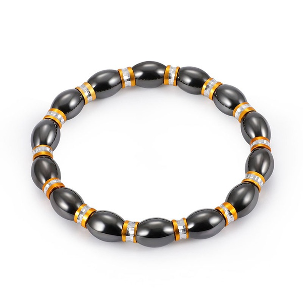 Fashion Natural Stone Inlaid precious stones Bracelets Geometric (Steel color)  NHLP0906-Steel color