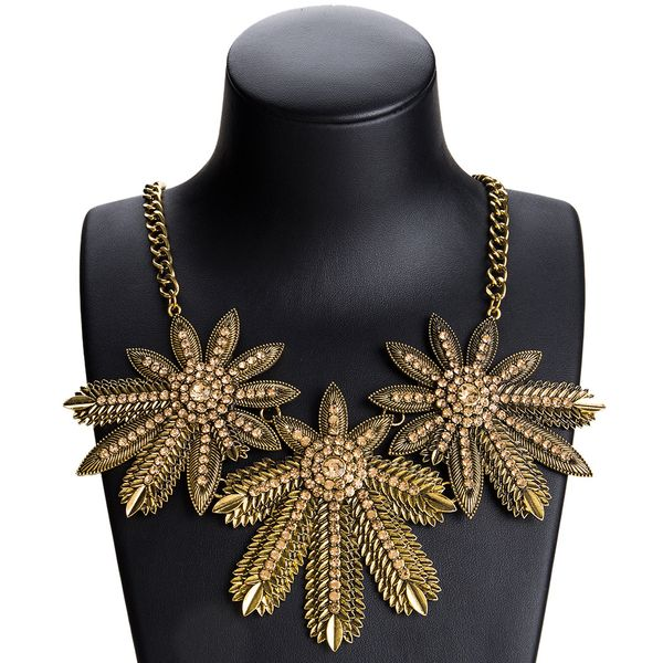 Fashion Alloy Rhinestone necklace Geometric (Alloy)  NHJE0963-Alloy