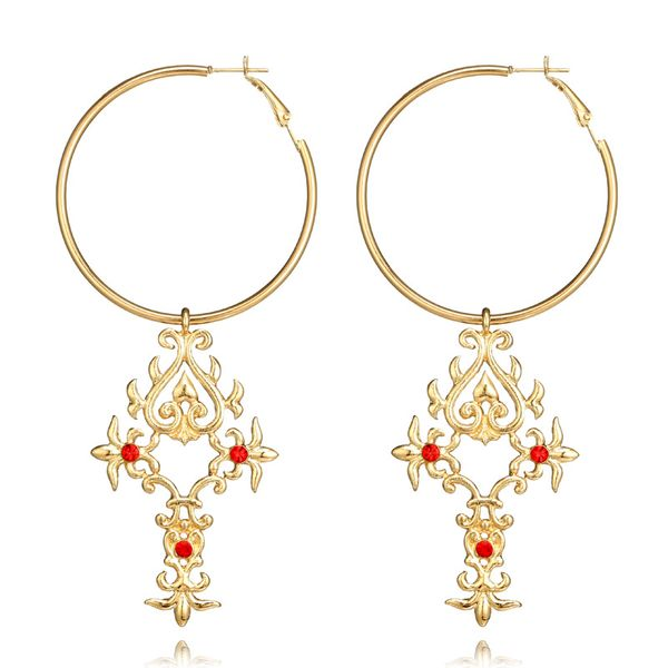 Fashion Alloy plating earring Cross (alloy)  NHGY0975-alloy