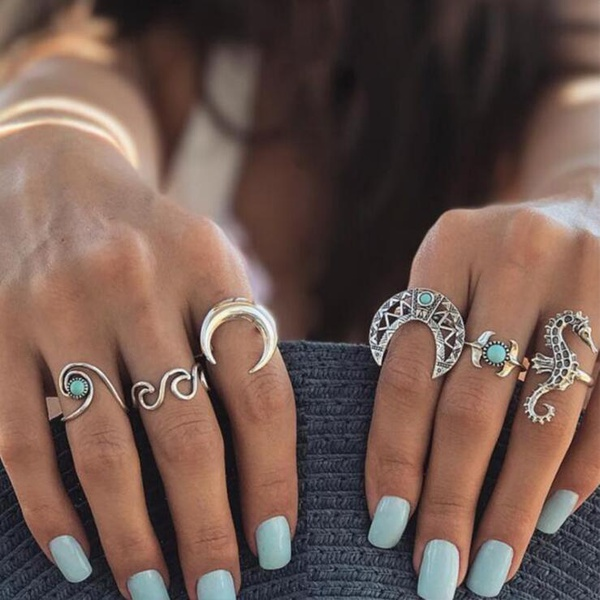 Fashion Alloy plating Rings Geometric (The main color)  NHGY0977-The main color