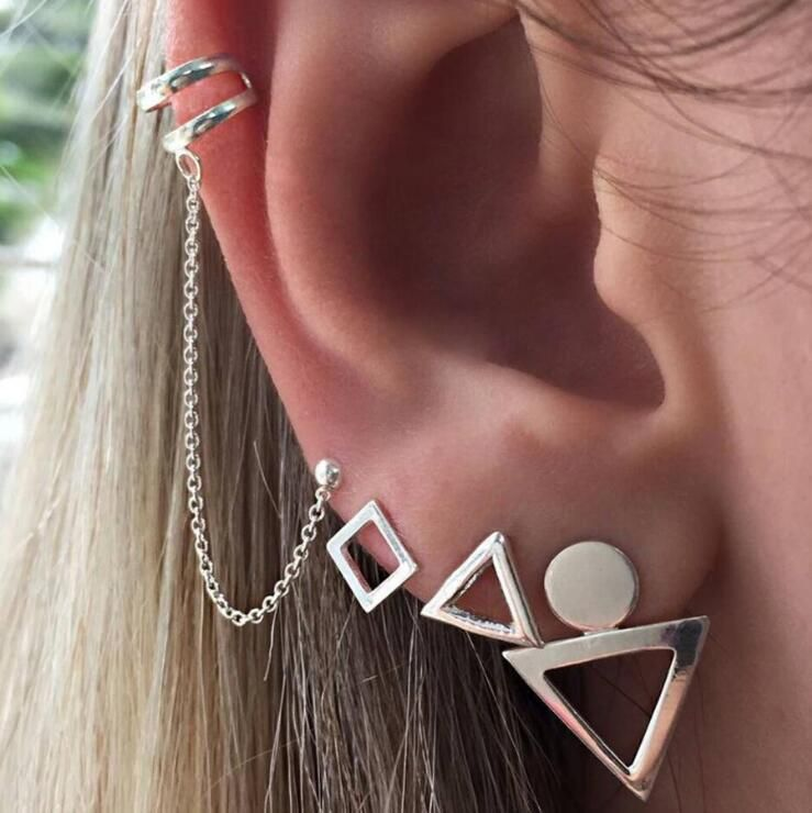 Fashion Alloy plating Earrings Geometric Alloy  NHGY0979Alloy