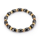 Fashion Natural Stone Inlaid precious stones Bracelets Geometric Steel color  NHLP0906Steel color