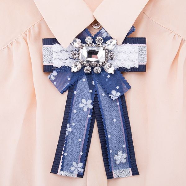 Alloy Fashion Bows brooch NHJE0970-Blue-gray