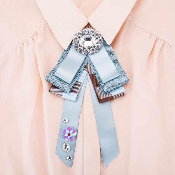 Alloy Fashion Bows brooch NHJE0971-blue