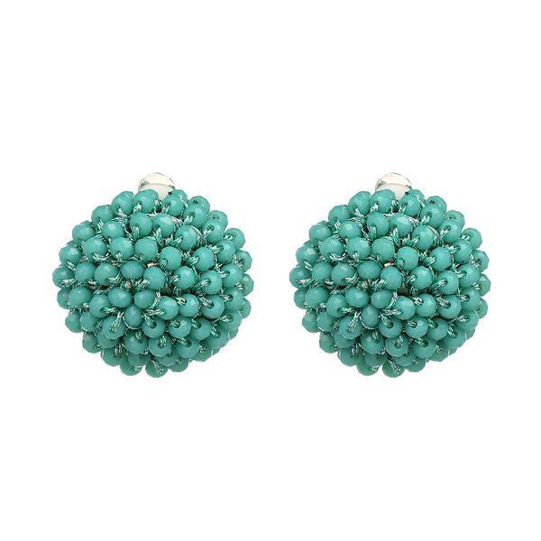Vintage Acrylic earring Geometric NHJJ3954-green