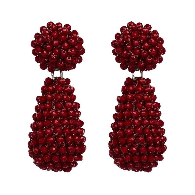 Fashion Acrylic earring Geometric NHJJ3934-red