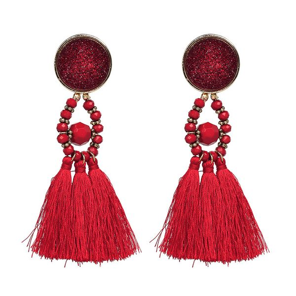 Fashion Plastic earring Geometric NHJJ3938-red