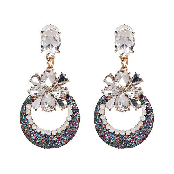 Fashion Imitated crystal&CZ earring Flowers NHJJ3939-Photo Color