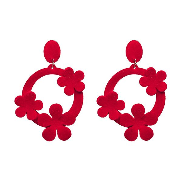Fashion Cloth earring Geometric NHJJ3940-red