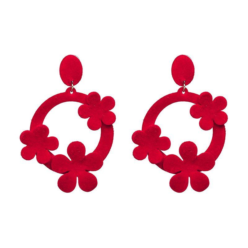 Fashion Cloth earring Geometric NHJJ3940-red