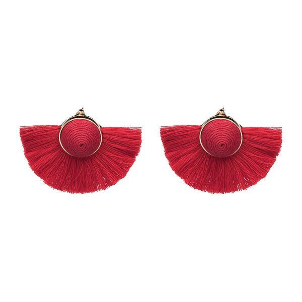 Fashion Cloth earring Geometric NHJJ3943-red