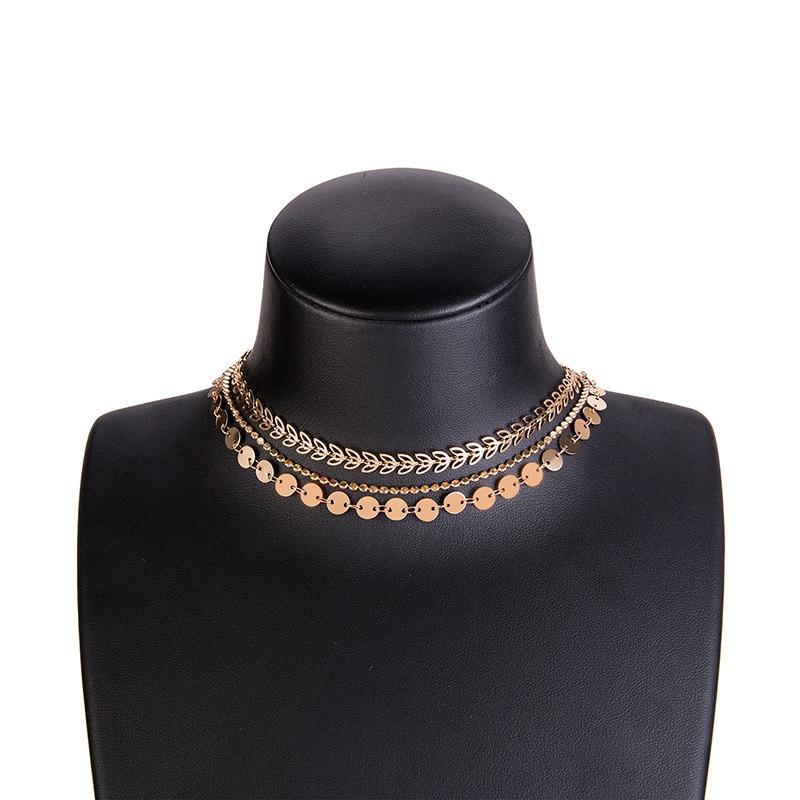 Fashion Alloy necklace Geometric NHWF3137-Alloy