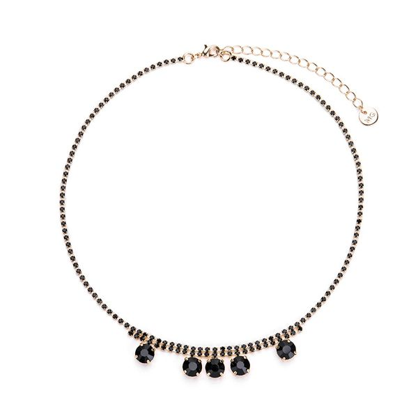 Fashion Alloy necklace Geometric NHWF3139-black