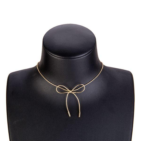 Fashion Alloy necklace Bows NHWF3142-Alloy