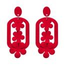 Fashion Cloth earring Flowers NHJJ3936red