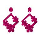 Fashion Cloth earring Flowers NHJJ3937red