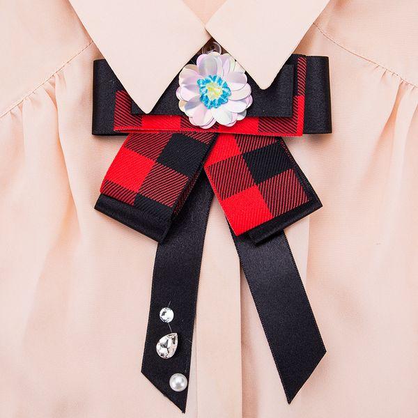 Alloy Fashion Bows brooch NHJE0991-black