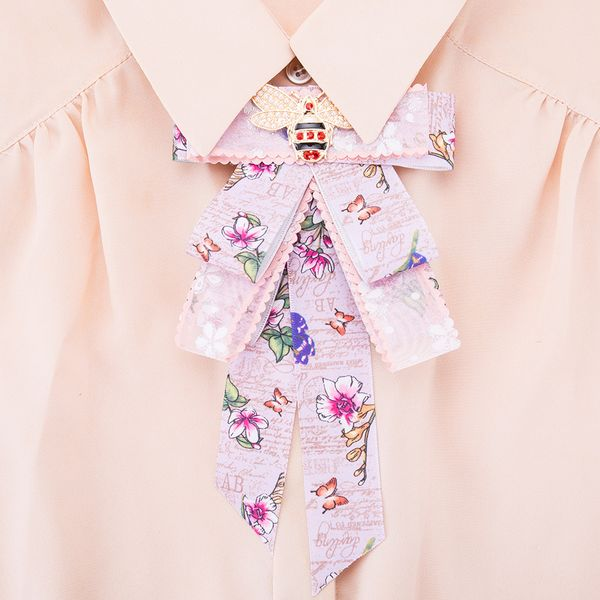 Alloy Fashion Bows brooch NHJE0975-purple