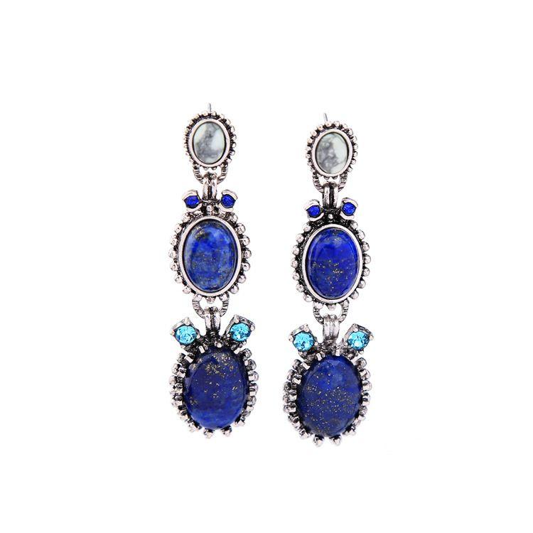 Alloy Fashion Geometric earring NHQD4388-blue
