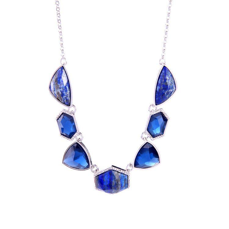 Alloy Fashion Geometric necklace NHQD4382-blue