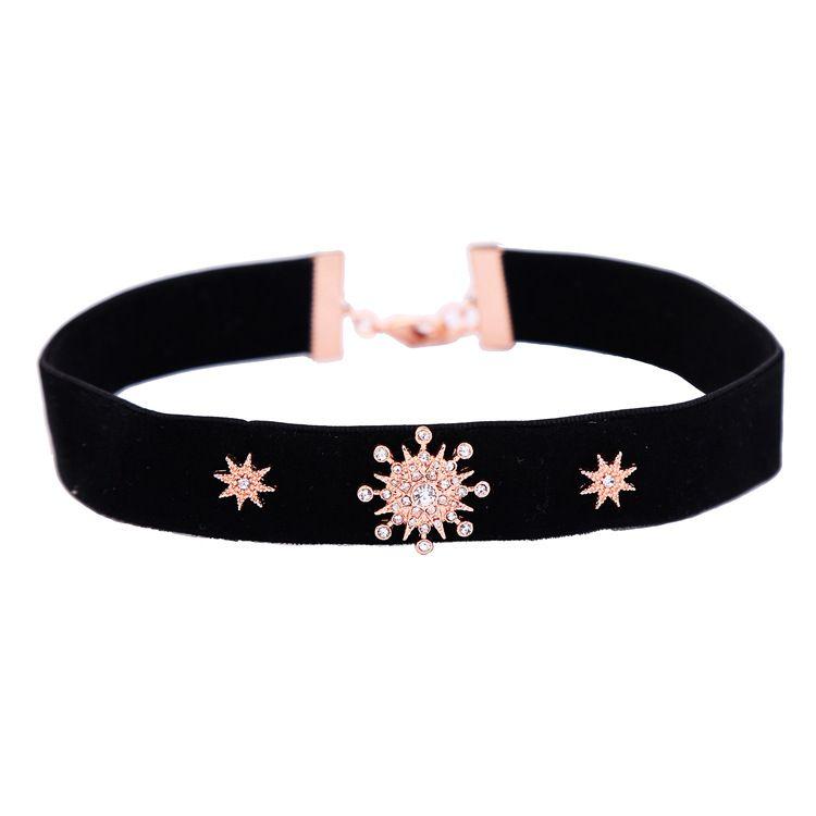 Alloy Fashion Geometric Collar NHQD4394-black