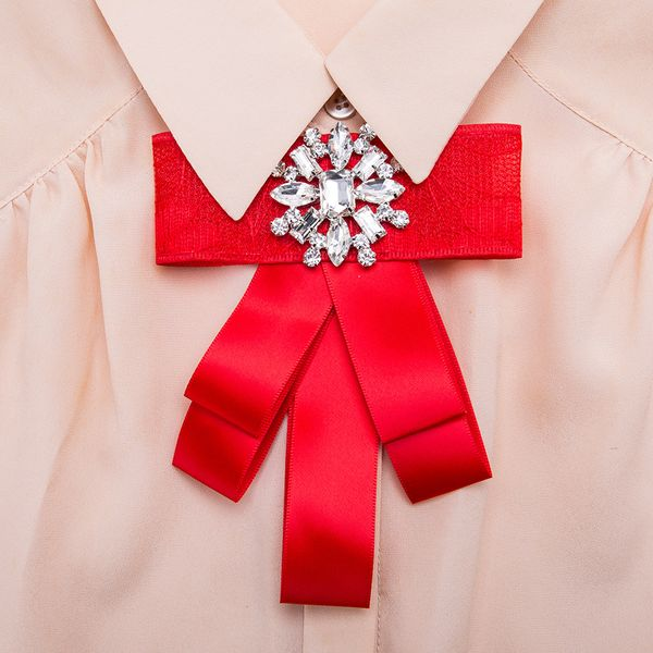 Alloy Fashion Bows brooch NHJE0980-red