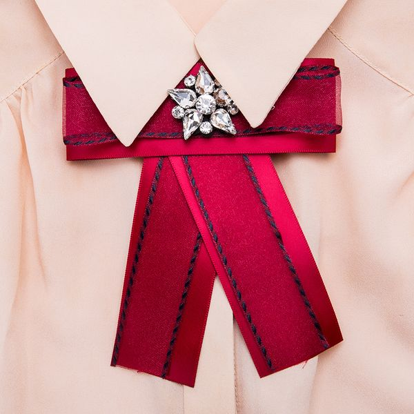 Alloy Fashion Bows brooch NHJE0981-red