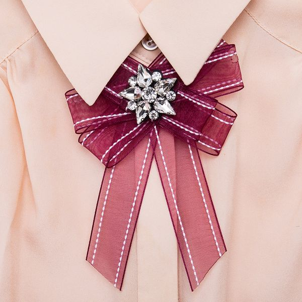 Alloy Fashion Bows brooch NHJE0982-red