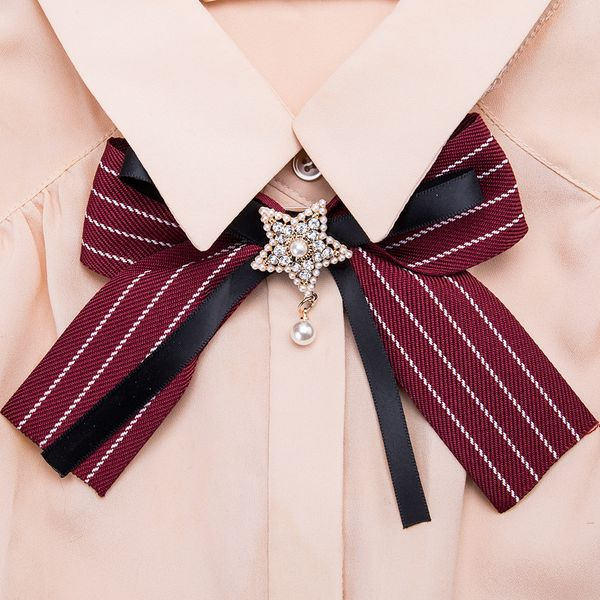 Alloy Fashion Bows brooch NHJE0983-red