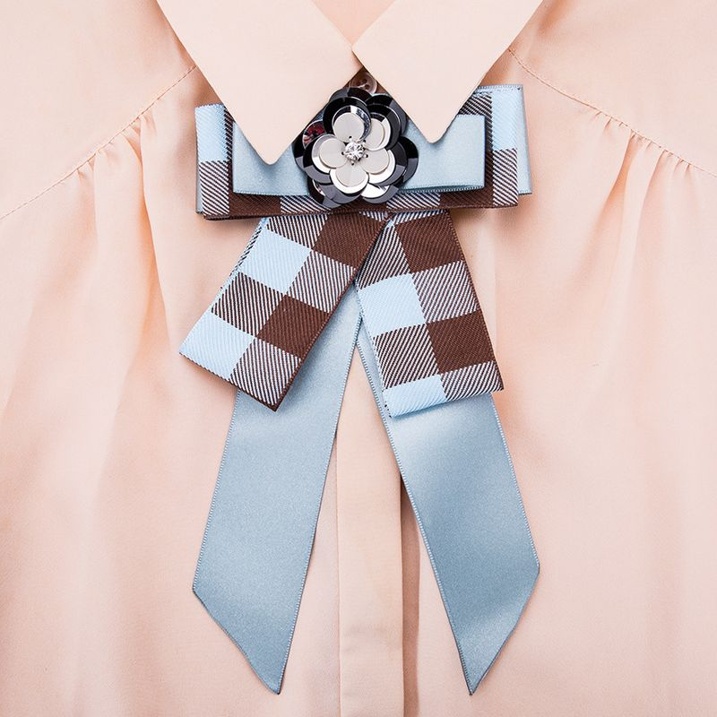 Alloy Fashion Bows brooch NHJE0989-blue