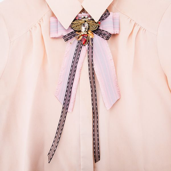Alloy Fashion Bows brooch NHJE0990-Pink