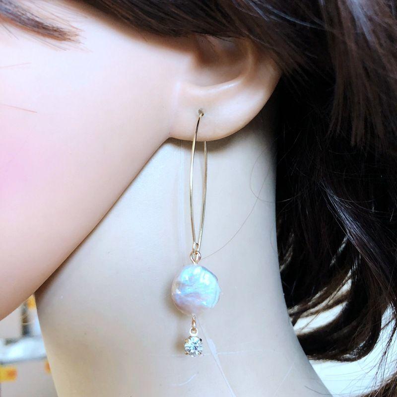 Natural Stone Korea  earring  (Big money) NHOM1054-Big-money