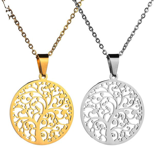 Titanium&Stainless Steel Fashion Flowers necklace  (Steel color) NHHF1119-Steel-color